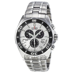 Citizen - Signature Chronograph Eco-Drive Silver Dial Stainless Steel Mens Watch BL5440-58A (44% off) - Shark Tank Taiwan