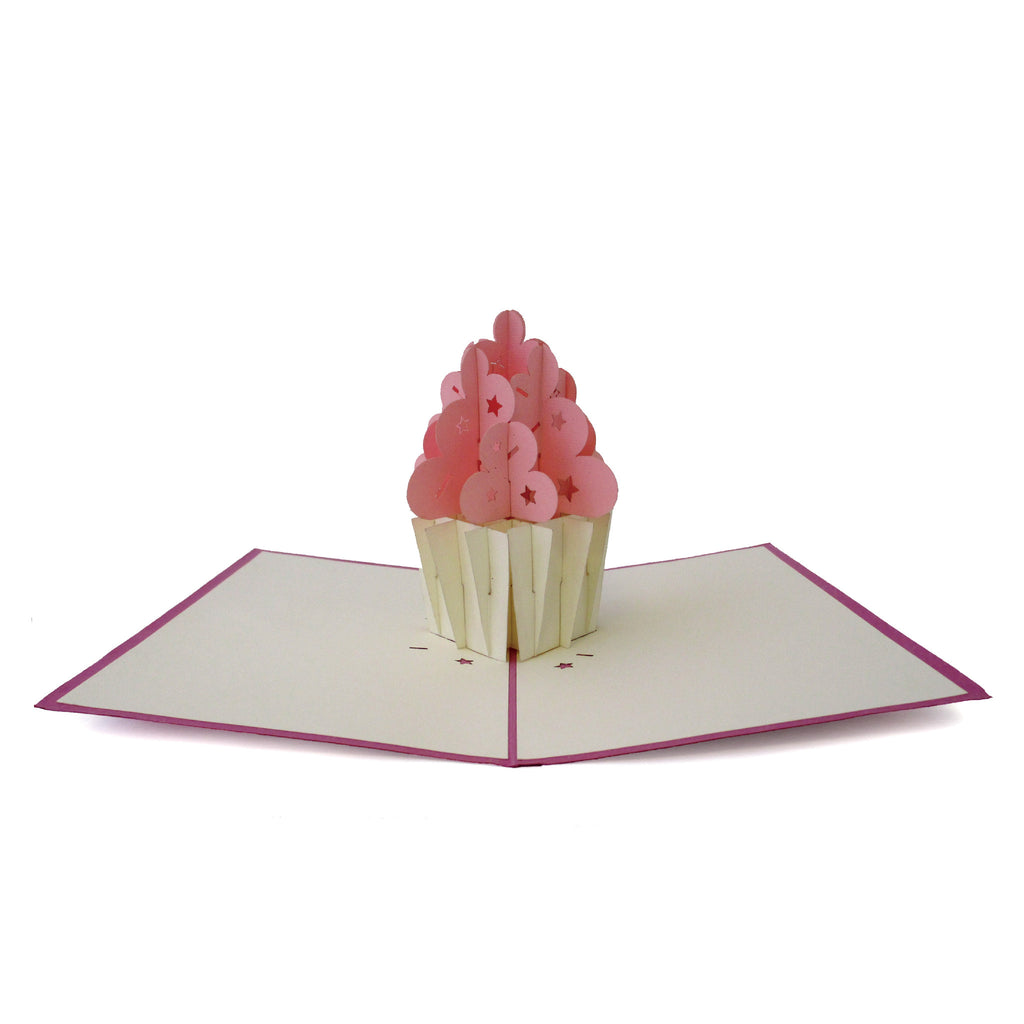 LOVEPOP Cupcake Birthday 3D card<br>萬用卡片-杯子蛋糕 - Shark Tank Taiwan