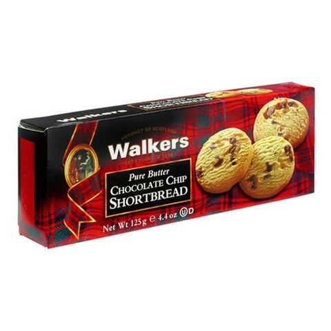 WALKERS Pure Butter - Chocolate Chip Shortbread<br/>蘇格蘭皇家奶油系列 - 奶油巧克力餅乾 (6入/組)
