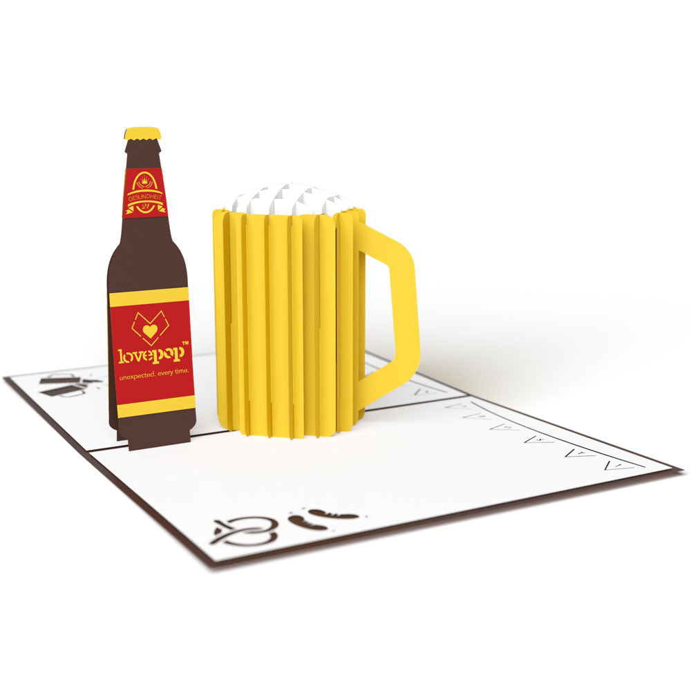 LOVEPOP Beer 3D Card<br/>萬用卡片-來杯清涼的啤酒吧! - Shark Tank Taiwan
