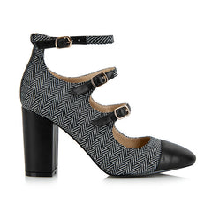YULL SHOES Battersea Buckles Block Heels<br/>巴特西扣帶式高跟鞋 (共3色) - Shark Tank Taiwan