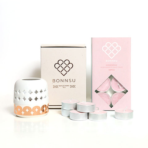 BONNSU Home Fragrance Set<br/>倒映骨瓷燭台 + 香氛蠟燭 禮盒組 - Shark Tank Taiwan