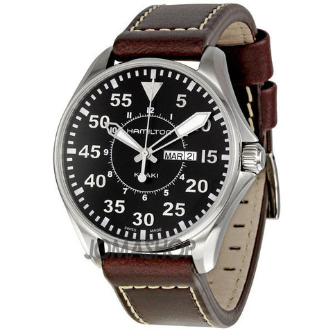 Hamilton - Khaki Aviation Pilot Black Dial Mens Watch H64611535 (33% off)