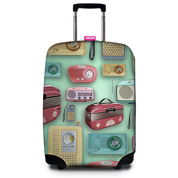 SUITSUIT Suitcase Cover<br/>行李箱保護套 - 復古收音機 - Shark Tank Taiwan