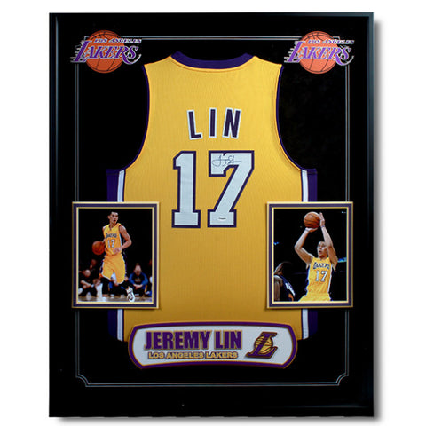 NBA Jeremy Lin Autographed Jersey - Laker<br/>林書豪湖人隊簽名球衣