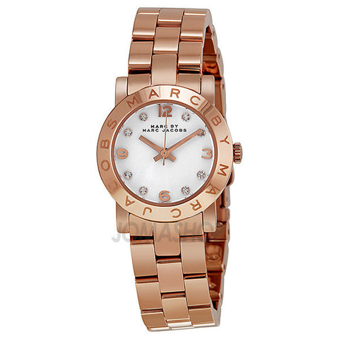 Marc Jacobs - Mini Amy White Dial Rose Gold-tone Stainless Steel Ladies Watch MBM3078 (20% off)
