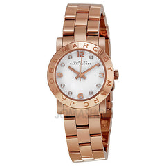 Marc Jacobs - Mini Amy White Dial Rose Gold-tone Stainless Steel Ladies Watch MBM3078 (20% off) - Shark Tank Taiwan