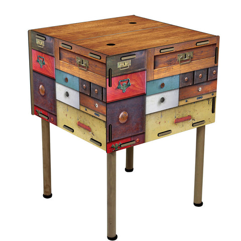 WERKHAUS Antique Storage Table<br/>復古拼接收納邊桌