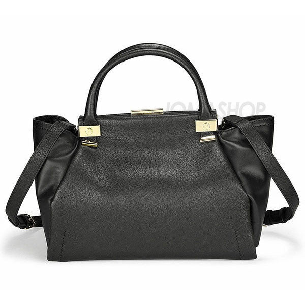 Lanvin - Trilogy Black Goatskin and Calfskin Small Tote AW0BTARIVP8A-10 - Shark Tank Taiwan