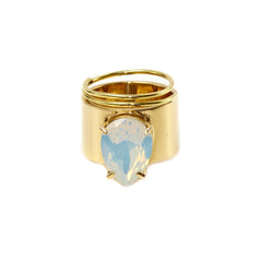 Lightening Bug - Ring - Gold with Opal - Shark Tank Taiwan