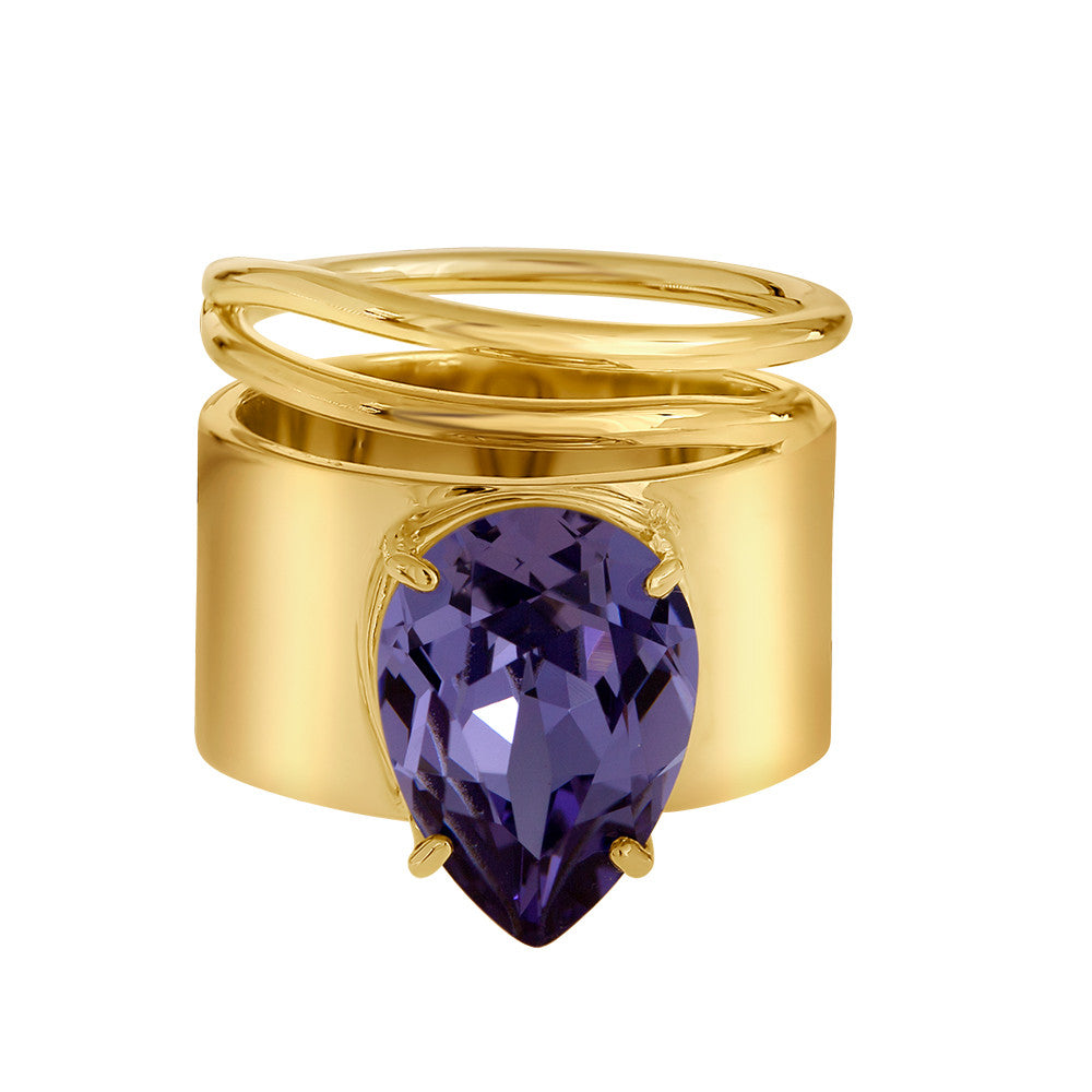 Lightening Bug - Ring - Gold with Tanzanite - Shark Tank Taiwan