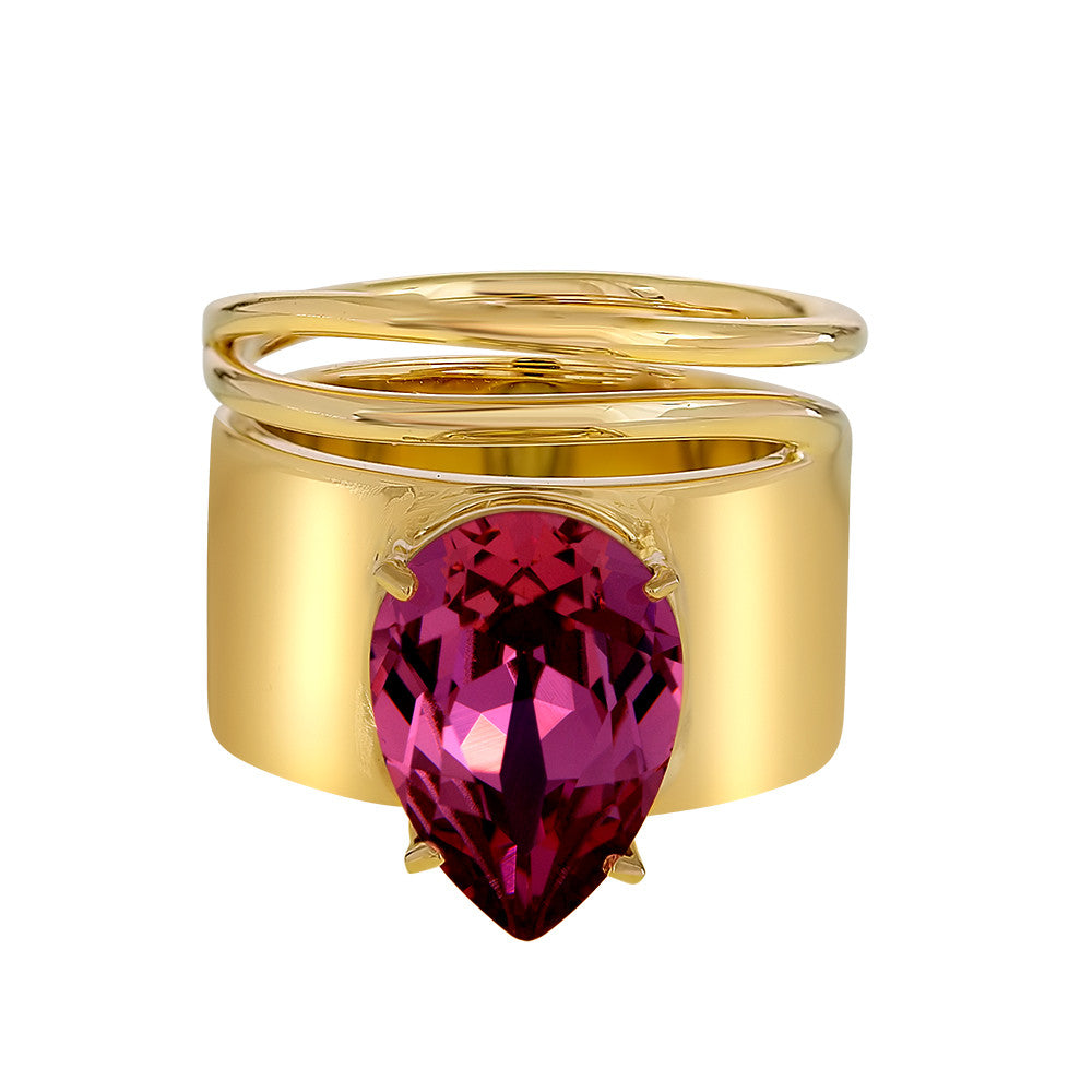 Lightening Bug - Ring - Gold with Rose - Shark Tank Taiwan