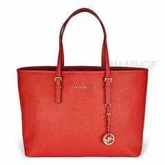Michael Kors - Jet Set Travel Medium Mandarin Leather Multifunction Tote (35% off) - Shark Tank Taiwan