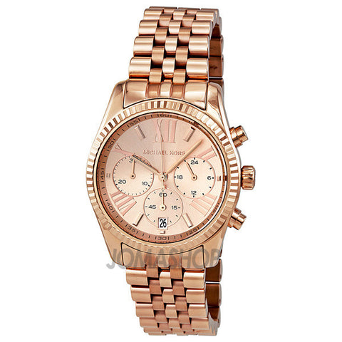 Michael Kors - Lexington Chronograph Rose Gold PVD Ladies Watch MK5569 (41% off)