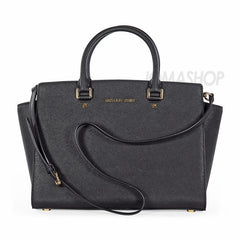 Michael Kors - Selma Black Saffiano Leather Satchel (30% off) - Shark Tank Taiwan