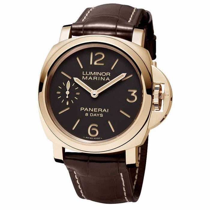 Panerai - Luminor Marina Brown Dial 18kt Rose Gold Mens Watch PAM00511 (22% off) - Shark Tank Taiwan