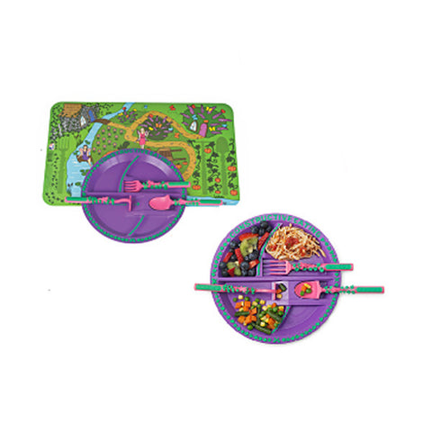 CONSTRUCTIVE EATING Children's Utensils - Garden Fairy<br/>創意模擬餐具 - 花仙子系列 (五件組)