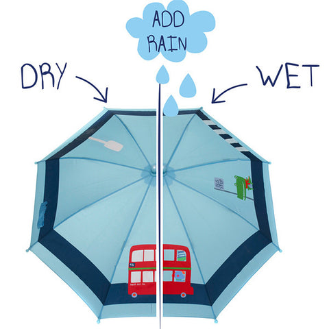 SQUIDKIDS Children's Colour Changing Umbrella - Bus<br/>快樂變色雨傘 - 英倫巴士 - Shark Tank Taiwan