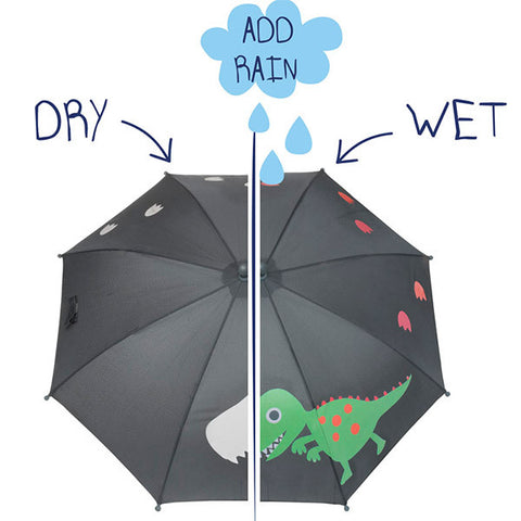 SQUIDKIDS Children's Colour Changing Umbrella - Dinosaur<br/>快樂變色雨傘 - 小恐龍 - Shark Tank Taiwan