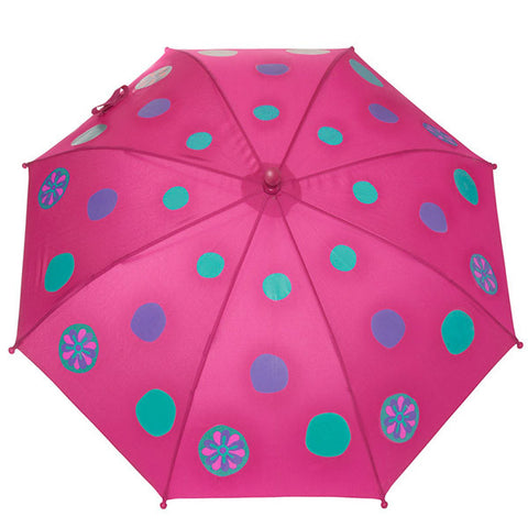 SQUIDKIDS Children's Colour Changing Umbrella - Polka Dot<br/>快樂變色雨傘 - 雨滴點點 - Shark Tank Taiwan