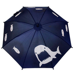 SQUIDKIDS Children's Colour Changing Umbrella - Shark<br/>快樂變色雨傘 - 小鯊魚 - Shark Tank Taiwan