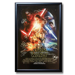 Star Wars Autographed Poster: Episode VII The Force Awakens<br/>星際大戰簽名海報:第七部曲 原力覺醒 - Shark Tank Taiwan