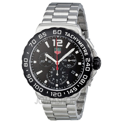 Tag Heuer - Formula 1 Chronograph Black Dial Stainless Steel Mens Watch CAU1110.BA0858 (36% off)