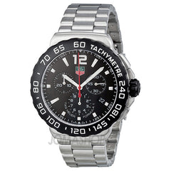 Tag Heuer - Formula 1 Chronograph Black Dial Stainless Steel Mens Watch CAU1110.BA0858 (36% off) - Shark Tank Taiwan