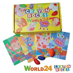 CRAYON ROCKS Color World<br/>酷蠟石 - 彩繪世界 24 色 - Shark Tank Taiwan