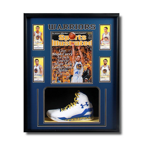 NBA Stephen Curry UA Autographed Shoe + SI MVP Autographed Photo<br/>史蒂芬·柯瑞簽名球鞋 + 簽名照