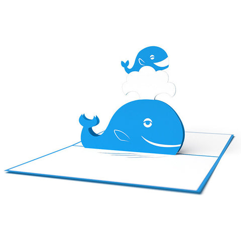LOVEPOP Whale Mother 3D card<br>萬用卡片-鯨魚 - Shark Tank Taiwan