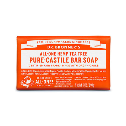 DR. BRONNERS Pure Castile Bar Soap - Tea Tree茶樹潔膚皂