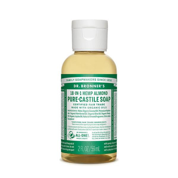 DR.BRONNERS Pure Castile Soap - Almond<br/>杏仁潔膚露  (2oz/8oz) - Shark Tank Taiwan