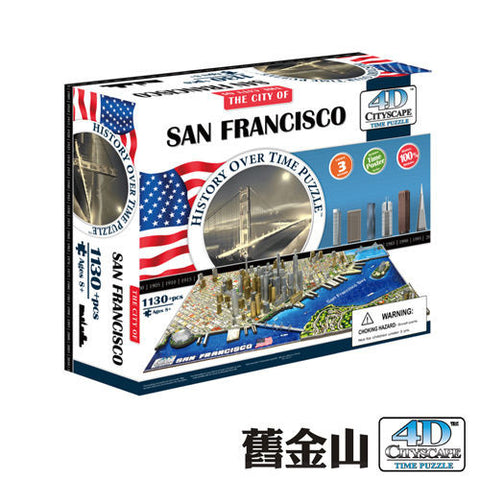 4D CITYSCAPE History Over Time - San Francisco<br/>4D 立體城市拼圖 - 舊金山