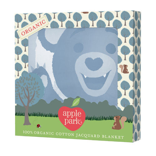 APPLE PARK Organic Cotton Muslin Swaddle Blanket - Bunny<BR/>有機棉透氣輕量毯 - 小熊 - Shark Tank Taiwan