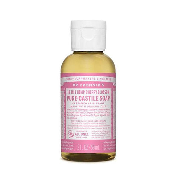 DR.BRONNERS Pure Castile Soap - Cherry Blossoms<br/>櫻花潔膚露 (2oz/8oz) - Shark Tank Taiwan