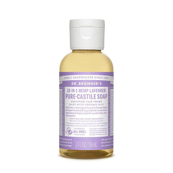DR.BRONNERS Pure Castile Soap - Lavender<br/>薰衣草潔膚露 (2oz/8oz) - Shark Tank Taiwan