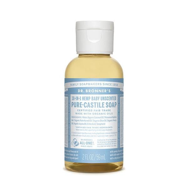 DR.BRONNERS Pure Castile Soap - Baby Unscented<br/>溫和嬰兒潔膚露 (2oz/8oz) - Shark Tank Taiwan