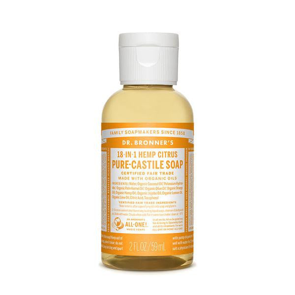 DR.BRONNERS Pure Castile Soap - Citrus<br/>柑橘潔膚露 (2oz/8oz) - Shark Tank Taiwan