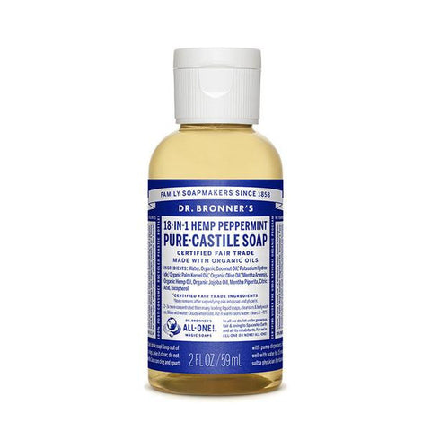 DR. BRONNERS Pure Castile Soap - Peppermint<br/>薄荷潔膚露 (2oz/8oz)