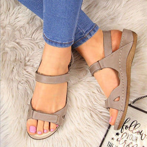 Soft Three Color Stitching Ladies Sandals