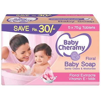 Baby Cheramy Soap Value Pack  5 * 75g
