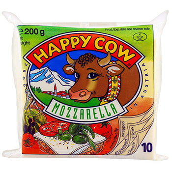 Mozzarella 10 Slices (200g) - Happy Cow