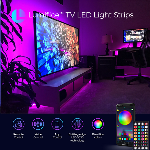 LED Lights for TV - Colorful Lights For Behind Your TV with Bluetooth