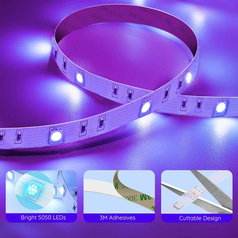 LED Light Strips - Color Changing LED Lights with Bluetooth and Music Sync