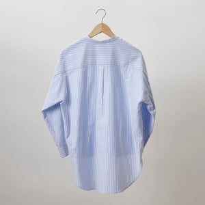 Mia Nehru Collar High-Low Hem Shirt