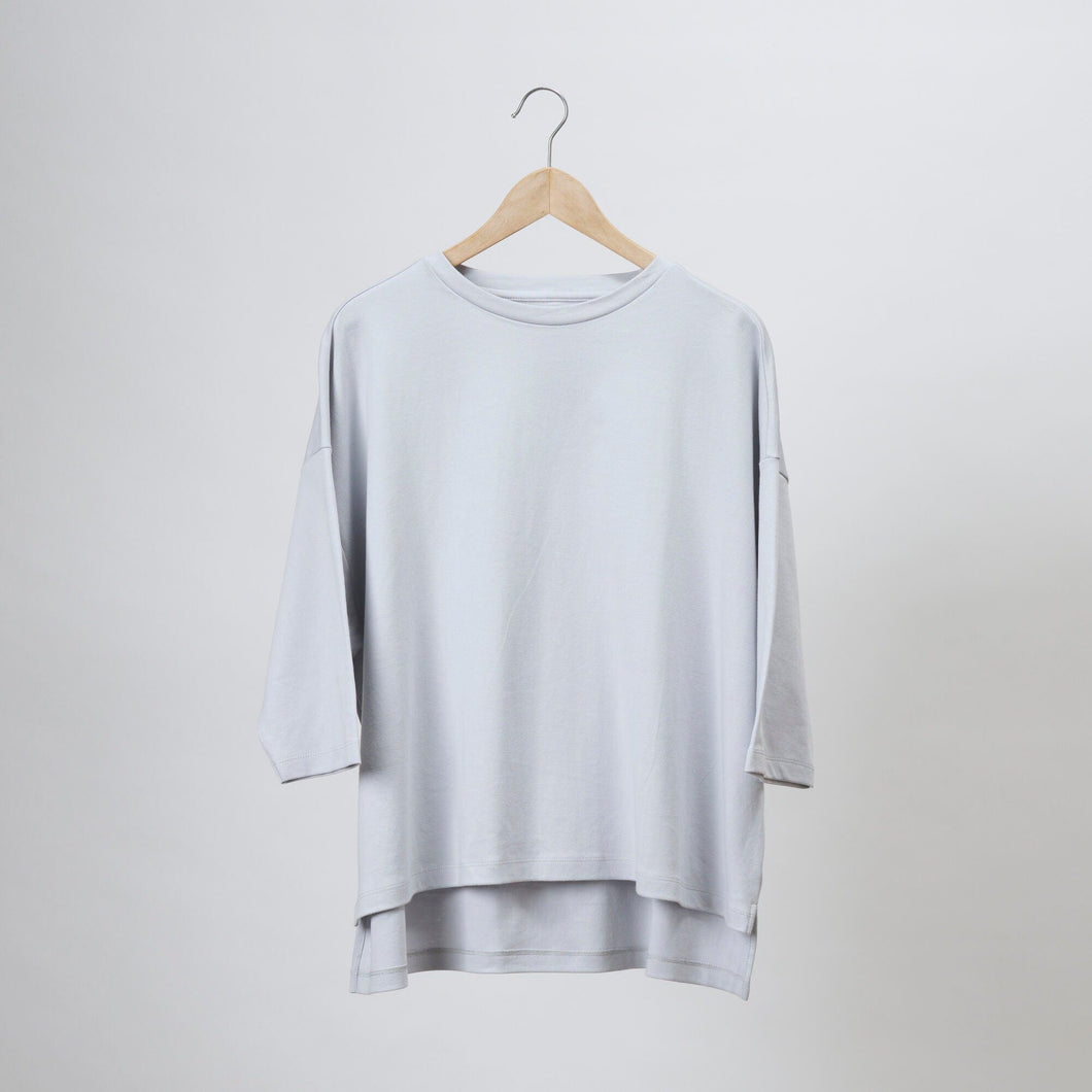 Vera Three Quarter Round Neck Top