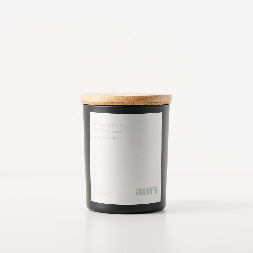 Rosemary White Musk Soy Candle 180ml