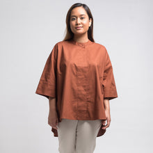 Load image into Gallery viewer, Ayda Curved Hem Collared Shirt