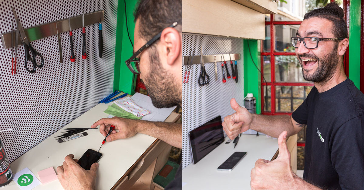 Visit the world's tiniest phone repair shop in Greenwich - Lovefone, London